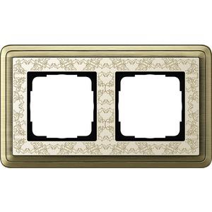 2-fach Abdeckrahmen für ClassiX Art Bronze cremeweiß
