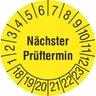 Prüfplakette Nächster Prüftermin 18  selbstklebenden Folienzeichen zur Kennzeich