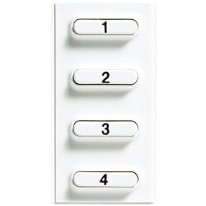 Zusatztastenblock 2-Draht weiß