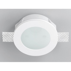 INVISIBILI Einbauleuchte Gips weiß 1xQR-CBC51 50W GU5,3 Glas opal