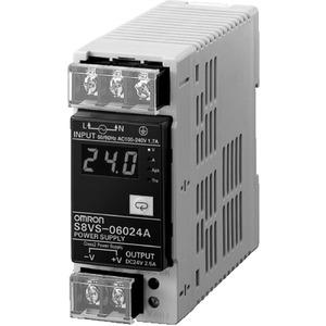 Schaltnetzteil 60 W 100 - 240 VAC / 24 VDC / 2,5 A Dig.Anzeige NPN