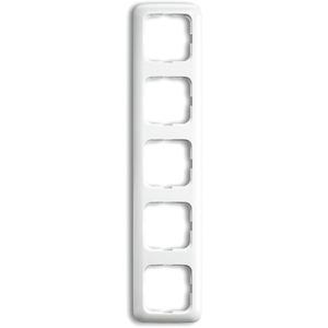 Busch-Jaeger Abdeckrahmen Reflex 5-fach weiß glänzend