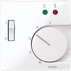Zentralpl. f. Fußbodentemperaturr.-Eins. m. Schalter aktivweiß Sys. M