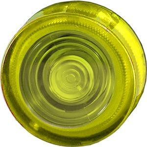 Leuchtvorsatz flach gelb mit Fresnellinse