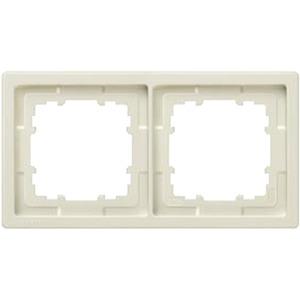 2-fach Rahmen DELTA style titanweiß 153x82mm