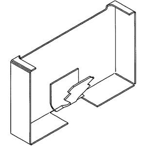 Brüstungskanal Stahlblech SIGNO BS Endstück 70/130 reinweiß