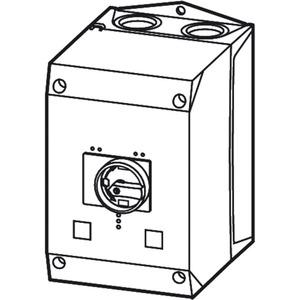 Isolierstoffgehäuse PKZ4 schwarz grau mit Drehgriff