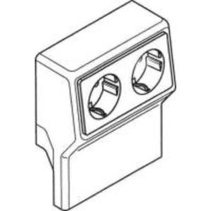 Sockelleistenkanal SL Gerätetank m. Doppelsteckd.RAL9001