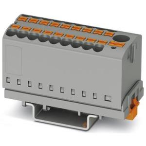 Verteilerblock senkrecht mit integrierter Einspeisung 7 x 2,5mm² schwarz/gelb