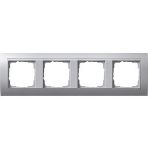 4-fach Abdeckrahmen für Farbe AluminiumEvent Farbe Aluminium