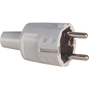 SCHUKO-Stecker PVC grau + Erdung CEE 7/VII