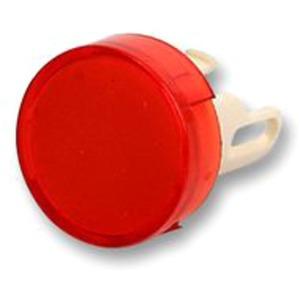 Pushbutton illuminated round red
