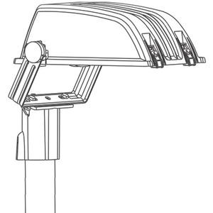 Außen-Zubehör graphit Acc. 334 Mastaufsatzkonsole