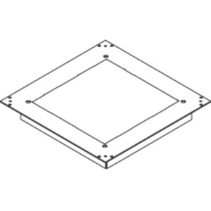 Aufnahmedeckel quadratisch Markierrand