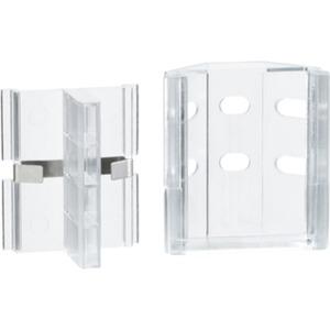 Duo Profil Clix Eckbefestigung 2er Pack Metall/Kunststoff Transparent