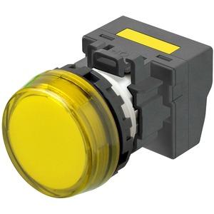 Leuchtmelder M22N Kunststoff Flach Gelb 220/230/240V AC Push-In Plus