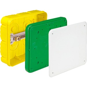 Erdung Potentialausgleich-Kasten 16² für Ortbeton grün