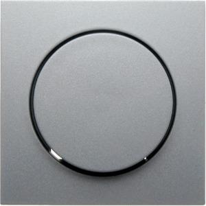 Zentralstück mit Regulierknopf für Drehdimmer alu matt S.1/B.3/B.7 IP20/IP44