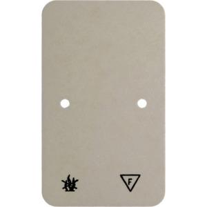 Selbstverlöschende Bodenplatte Aufputz weiß für Doppel-Steckdosen