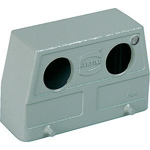 Tüllengehäuse 24 B Han B 2xM25 Hohe Bauform Querbügel pulverbeschichtet