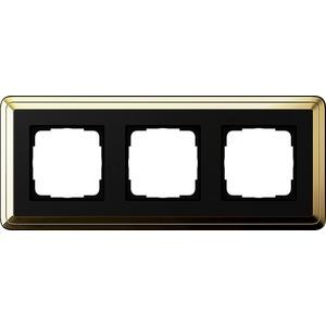 3-fach Abdeckrahmen für ClassiX Messing schwarz