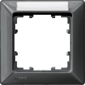 1-fach Rahmen mit Textfeld DELTA line carbon-metallic 80x80mm