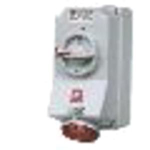 Wanddose 16A 4-polig 6h 400V IP44