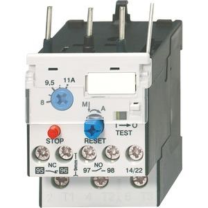 Motorschutzrelais 3-polig 10 - 14A Direktmo. J7KN10-40 man. und autom.