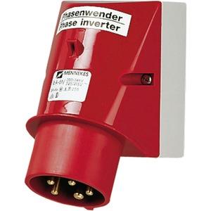 CEE-Wandgerätestecker 16A 5p 400V 6h IP44 mit Phasenwender