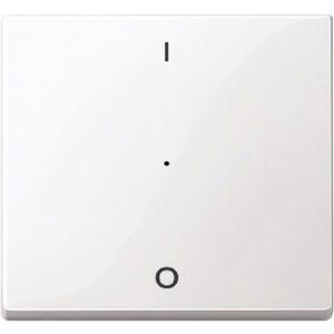 Wippe für Taster-Modul 1-fach (1/0) polarweiß glänzend