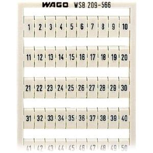 WSB-Schnellbezeichnungssystem Aufdruck waagerecht 1 - 50 (2x) weiß