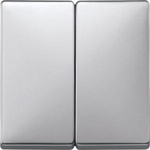 Wippe für Serienschalter aluminium System Fläche
