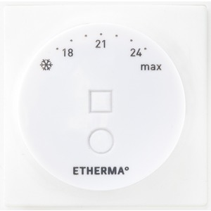 Schaltereinbauthermostat m. Drehregler u. App-Funktion via Bluetooth weiß 5-35°C