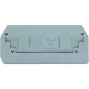 Abschluss- und Zwischenplatte 2,5 mm dick grau