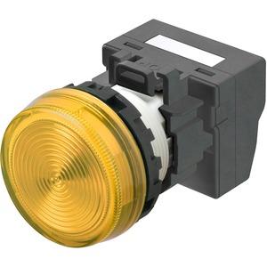 Leuchtmelder M22N Kunststoff Flach Gelb 24V Push-In Plus