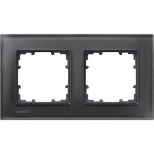 2-fach Glas Rahmen DELTA miro Glas schwarz 161x90mm