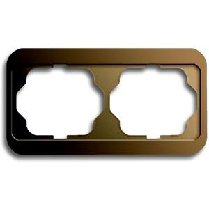 Abdeckrahmen alpha 2-fach waagerecht Bronze matt