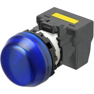 Leuchtmelder M22N Kunststoff sphärisch Blau 220/230/240 VAC Push-In
