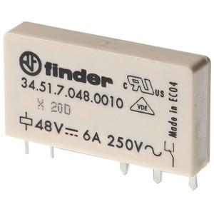 Steck- Printrelais elektromech. 1 W / 6A / 60VDC sensitiv Serie 34