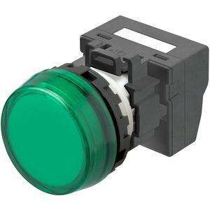 Leuchtmelder M22N Kunststoff Flach Grün 24V Push-In Plus