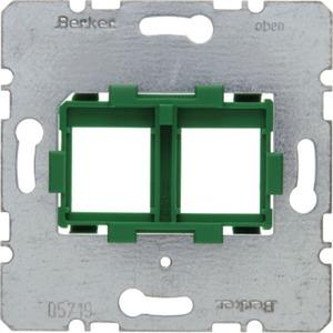 Tragplatte mit grüner Aufnahme 2fach Modul Einsatz