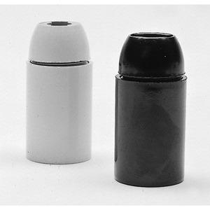 Lampenfassung 140/04 Kunststoff E14 Fassung glatt schwarz